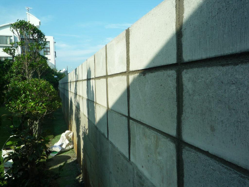 塀を高く!ブロック工事