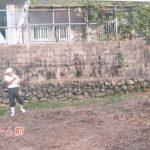 リフォームで石垣の土留め擁壁工事