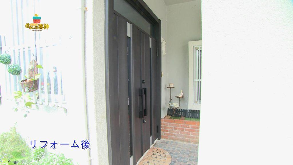 リフォームで重厚感と高級感の玄関ドアに