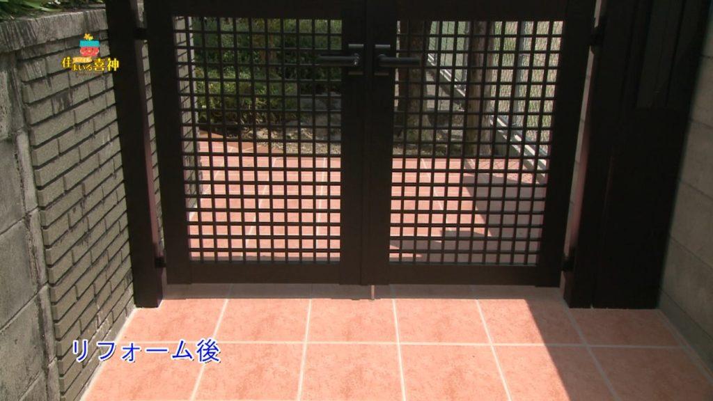 リフォームで風対策の門扉・フェンス設置