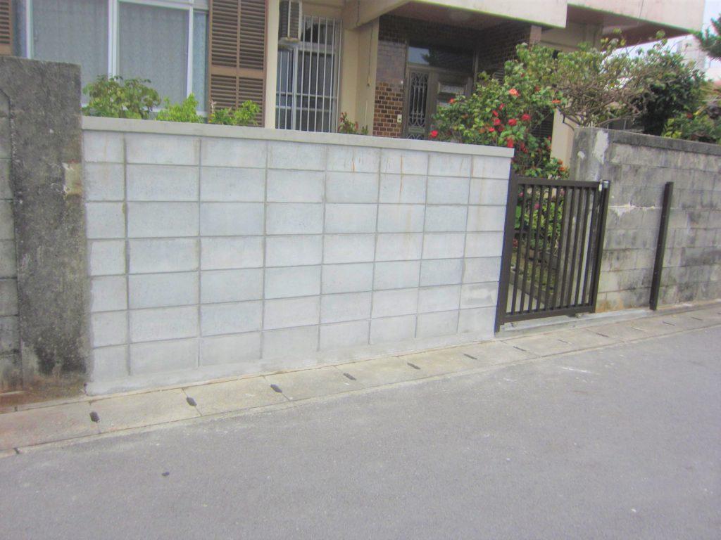 リフォームでブロック塀とアルミゲート新設