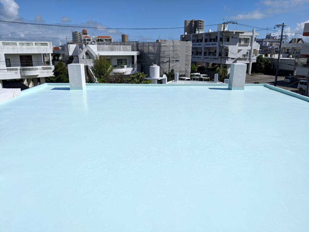 リフォームで古くなった建物の屋上を防水保護