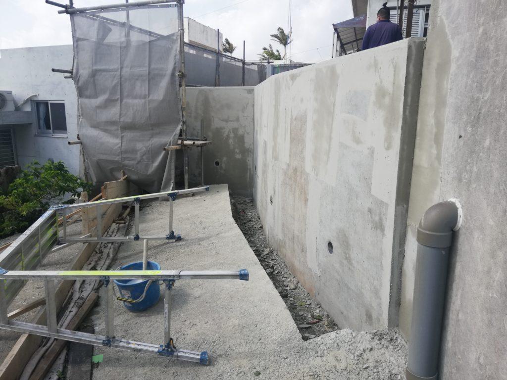 リフォームで頑丈な擁壁と安心安全のお庭を